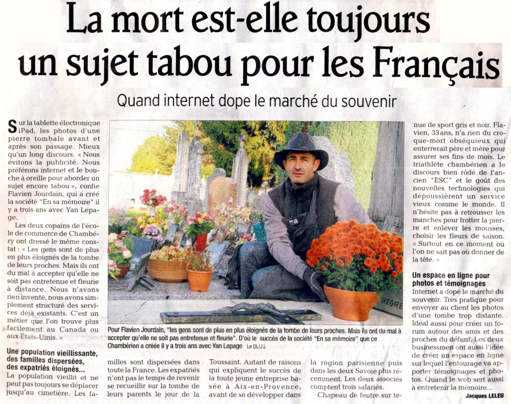 Article Dauphine LIbere 31 oct 2010
